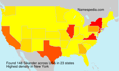 Surname Sikander in USA