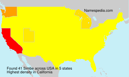 Surname Simbe in USA