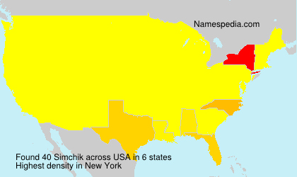 Surname Simchik in USA