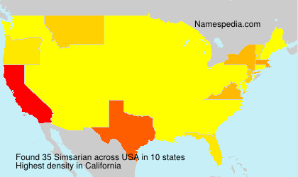 Surname Simsarian in USA