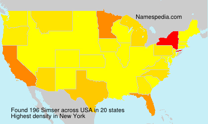Surname Simser in USA