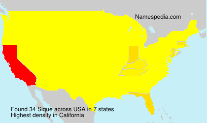 Surname Sique in USA