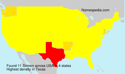 Surname Sirmen in USA