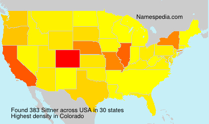 Surname Sittner in USA