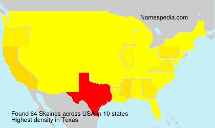 Surname Skaines in USA