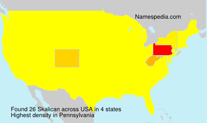 Surname Skalican in USA