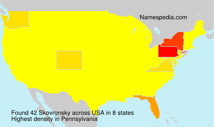 Surname Skovronsky in USA
