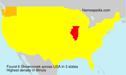 Surname Skowronnek in USA