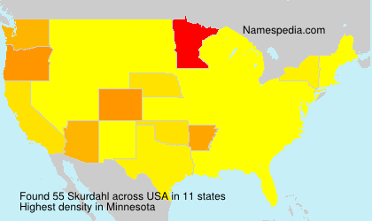 Surname Skurdahl in USA