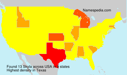 Surname Skyla in USA