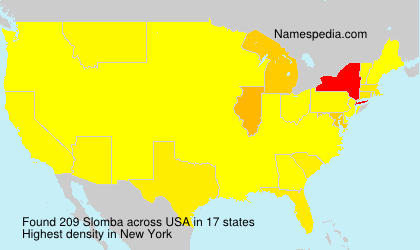 Surname Slomba in USA
