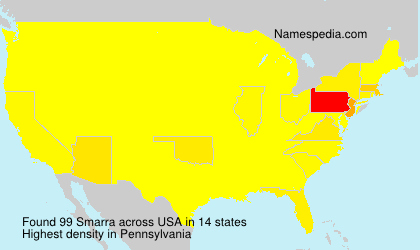 Surname Smarra in USA