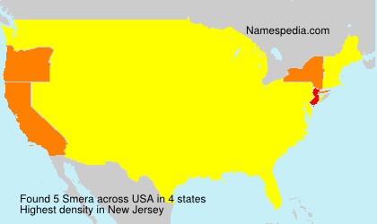 Surname Smera in USA