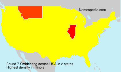 Surname Smidesang in USA