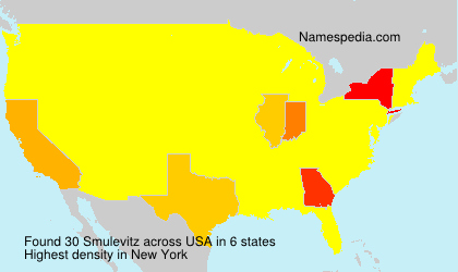 Surname Smulevitz in USA