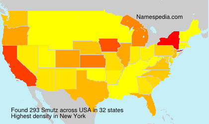 Surname Smutz in USA
