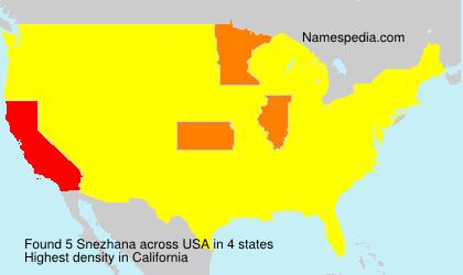 Surname Snezhana in USA