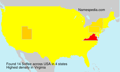 Surname Soffee in USA