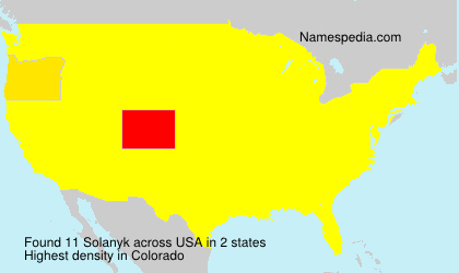 Surname Solanyk in USA