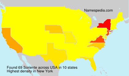 Surname Soriente in USA