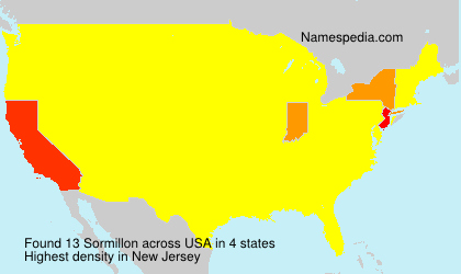 Surname Sormillon in USA