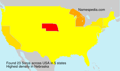 Surname Sorys in USA