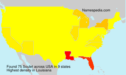 Surname Soulet in USA