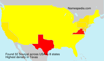 Surname Souryal in USA