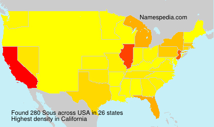 Surname Sous in USA