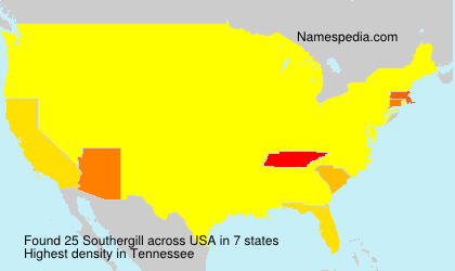 Surname Southergill in USA