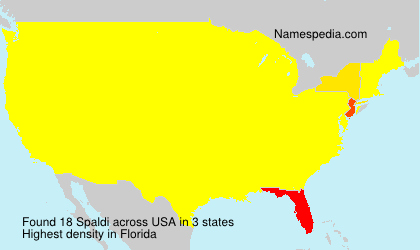 Surname Spaldi in USA