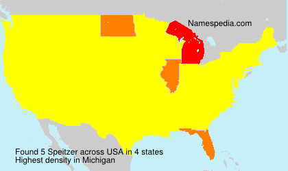 Surname Speitzer in USA