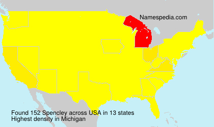 Surname Spencley in USA