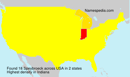 Surname Speybroeck in USA