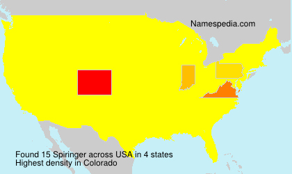 Surname Spiringer in USA