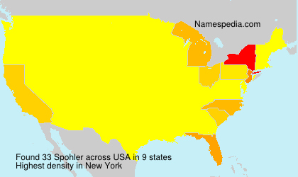 Surname Spohler in USA