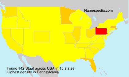 Surname Staaf in USA