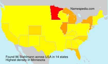 Surname Stahlmann in USA
