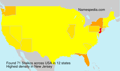 Surname Staikos in USA