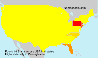 Surname Stalfa in USA