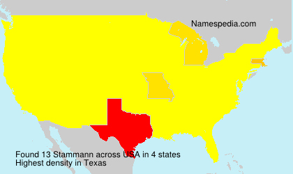 Surname Stammann in USA