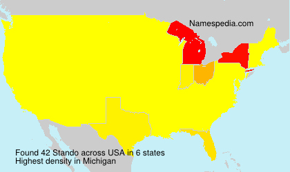 Surname Stando in USA