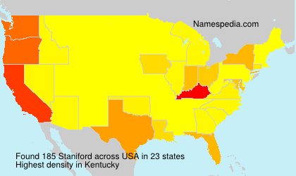 Surname Staniford in USA