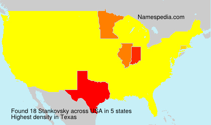 Surname Stankovsky in USA