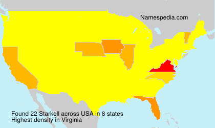 Surname Starkell in USA