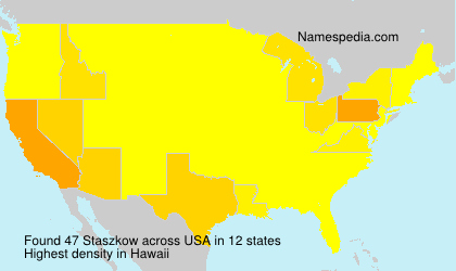 Surname Staszkow in USA