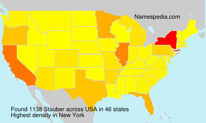Surname Stauber in USA