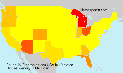 Surname Stedron in USA