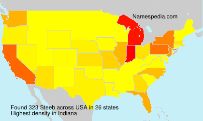 Surname Steeb in USA