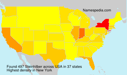 Surname Steinhilber in USA